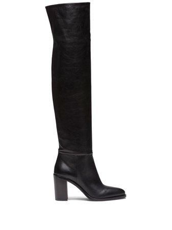 Prada knee-length mid-heeled Boots - Farfetch