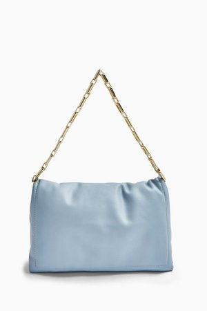 Blue Chain Clutch Bag | Topshop