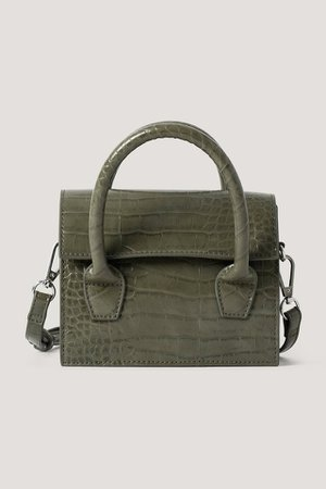 Two Way Mini Top Handle Bag Green | na-kd.com