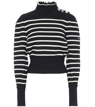Marc Jacobs - x Armor-Lux striped virgin wool sweater | Mytheresa