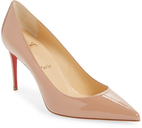 Kate Pointed Toe Patent Leather Pump