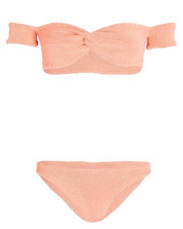Hunza G Brigette Off-The-Shoulder Bikini Set   INTERMIX®