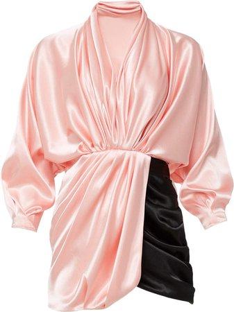 Mach & Mach Contrasting Draped Mini Dress Size: S