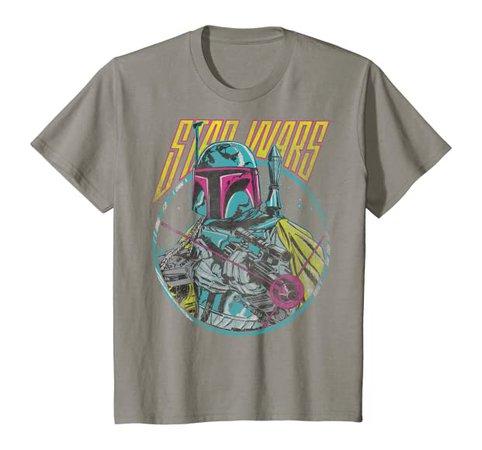 Amazon.com: Star Wars Boba Fett Neon Blaster Vintage Graphic T-Shirt C2: Clothing