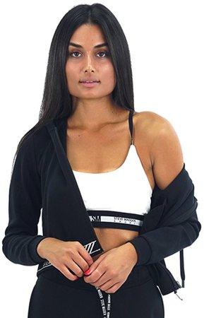 Zip-Up Logo Sweatshirt Black