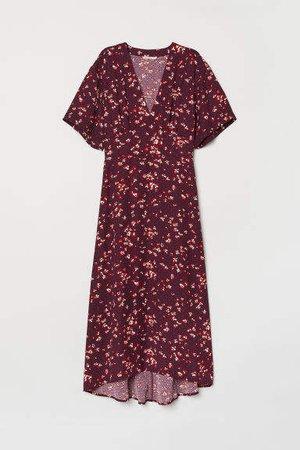 V-neck Dress - Red