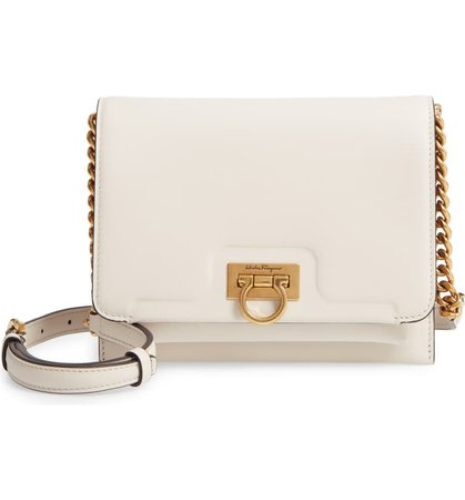 Salvatore Ferragamo Gancio Square Calfskin Leather Crossbody Bag | Nordstrom