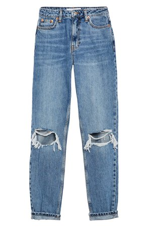 Double Rip Mom Jeans   Nordstrom