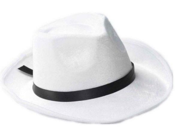 20s Gangster White Fedora Hat W/ Black Band Halloween Costume Accessory 66719 | eBay