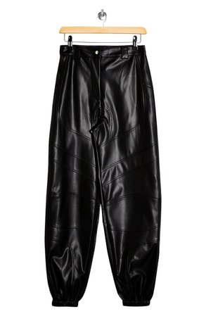Topshop Paneled Faux Leather Joggers | Nordstrom