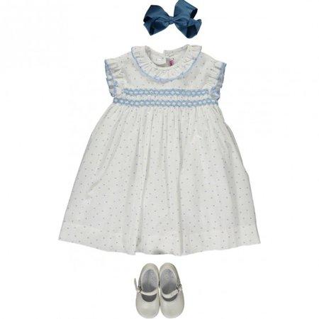 White & Blue Dress Girl
