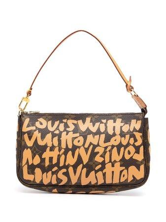 Louis Vuitton 2001 pre-owned Graffiti Monogram Pochette Accessoires Handbag - Farfetch
