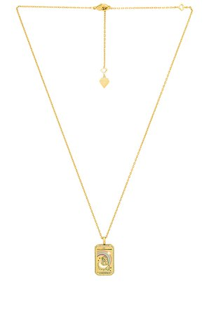 Wanderlust + Co L'Imperatrice Tarot Necklace in Gold   REVOLVE