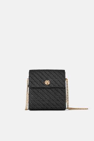 BRAIDED CROSSBODY BAG WITH CHAIN STRAP-Crossbody bags-BAGS-WOMAN | ZARA United Kingdom
