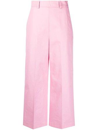MSGM high-waist Cropped Trousers - Farfetch
