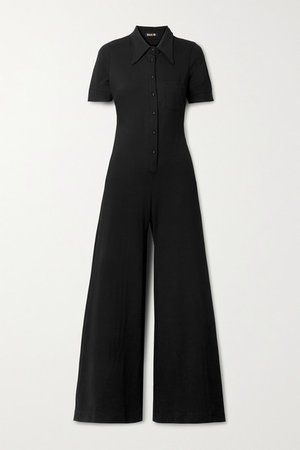 Stretch-ponte Jumpsuit - Black
