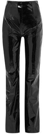 Patent-leather Straight-leg Pants