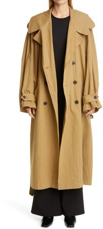 Oversize Military Trench Coat