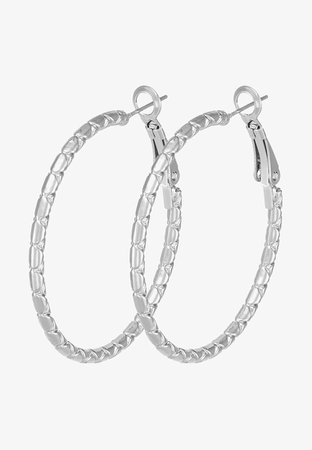 SNÖ of Sweden CAPELLA RING EAR PLAIN - Pendientes - silver-coloured - Zalando.es