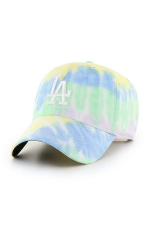 '47 Los Angeles Dodgers Tie-Dye Baseball Hat | Urban Outfitters