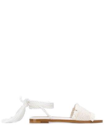 Valentino, woven flat sandals