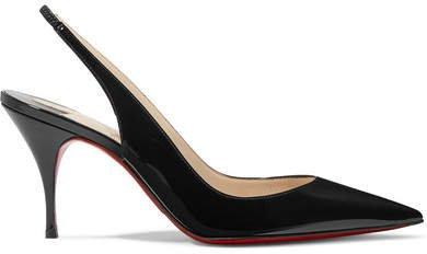Clare 80 Patent-leather Slingback Pumps - Black