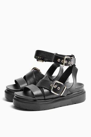 PRIME Black Chunky Sandals | Topshop