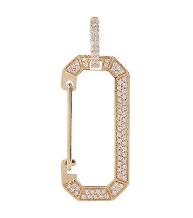 EÉRA - Big Chiara 18kt gold earring with diamonds | Mytheresa