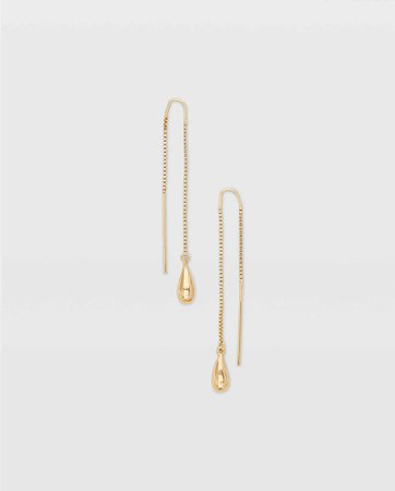 Teardrop Threader Earring
