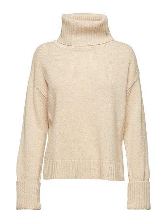 Chunky Roller Neck Sweater (Sandstone) (1040 kr) - Filippa K - Stickat | Boozt.com
