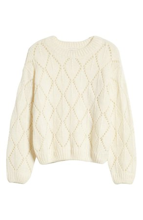 MOON RIVER Pointelle Sweater | Nordstrom