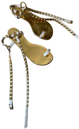 Gold Patent leather Sandals