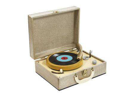 Little Vintage Record Player In Box Case Isolated With Clipping.. Stock Photo, Picture And Royalty Free Image. Image 22819534.