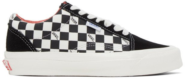 Black and Off-White Checkerboard NS OG Old Skool LX Sneakers