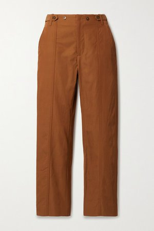 Judi Twill Straight-leg Pants - Orange