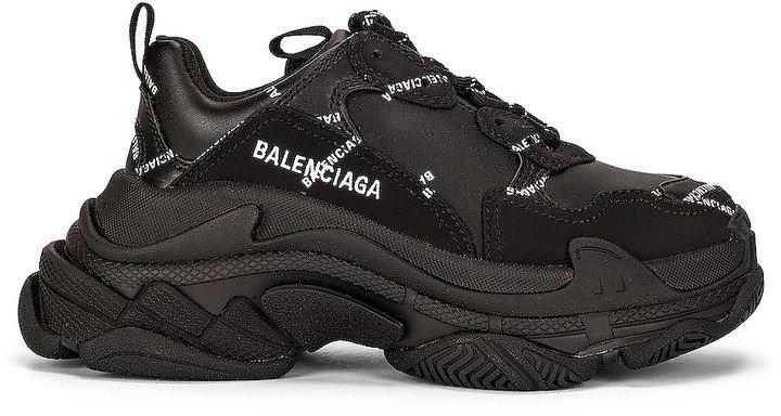 Triple S Sneakers in Black & White | FWRD