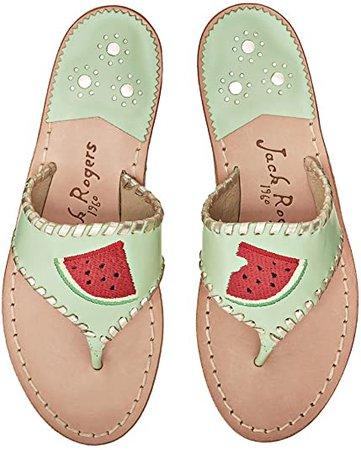 Amazon.com | Jack Rogers Watermelon Sandals, Mint, 11 | Sandals