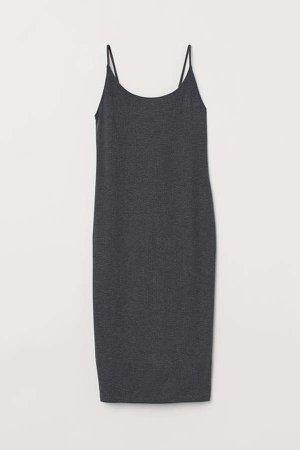 Ribbed Dress - Gray