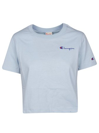 Champion Embroidered Logo Cropped T-shirt