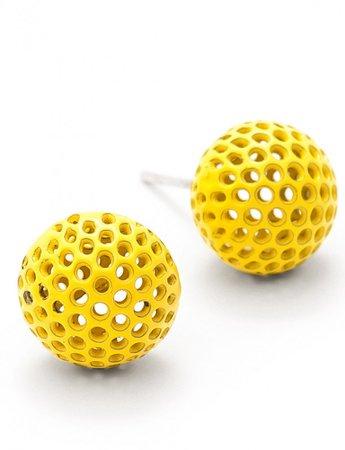 Vibrant Yellow Ball Stud Earrings   e.g.etal   Melbourne