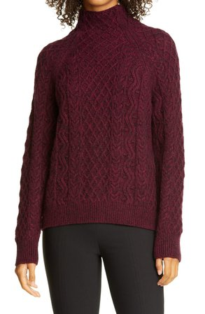 Vince Cable Mock Neck Merino Wool Blend Sweater | Nordstrom