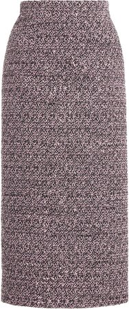 Alessandra Rich Midi Tweed Skirt