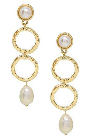 Ettika Textured Pearl Drop Earrings | Nordstrom