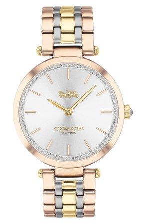 COACH Park Pavé Bracelet Watch, 34mm | Nordstrom