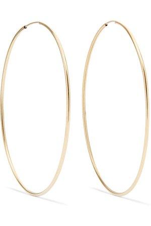 Loren Stewart   Infinity gold hoop earrings   NET-A-PORTER.COM
