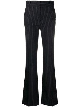 Victoria Beckham Pinstriped Bootcut Trousers - Farfetch