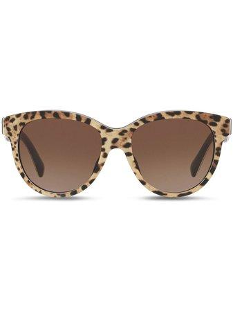 Shop brown & black Dolce & Gabbana Eyewear cat-eye sunglasses with Express Delivery - Farfetch