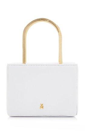 Super Amini Henson Leather Top Handle Bag By Amina Muaddi | Moda Operandi