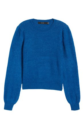 VERO MODA Lefile Puff Sleeve Ribbed Sweater | Nordstrom