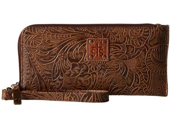 STS Ranchwear - The Floral Clutch (Mocha) Clutch Handbags